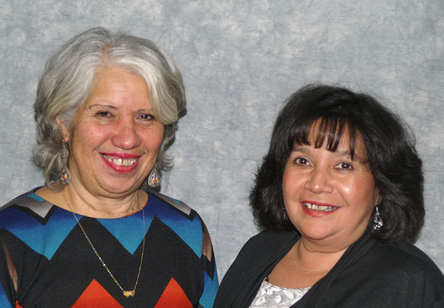 Eve Poppiti and Lillian Garcia